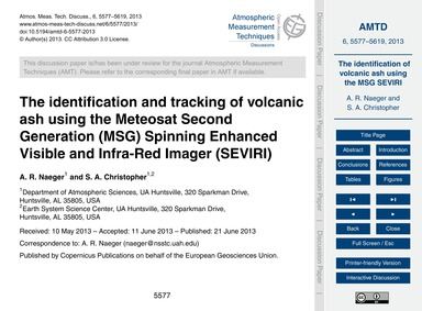 The Identification and Tracking of Volca... by Naeger, A. R.