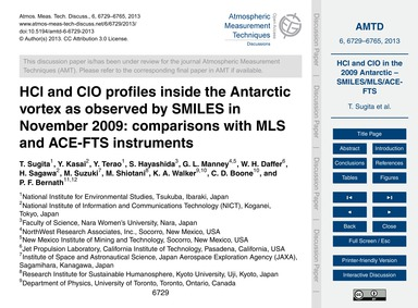 Hcl and Clo Profiles Inside the Antarcti... by Sugita, T.