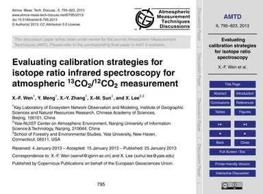 Evaluating Calibration Strategies for Is... by Wen, X.-f.