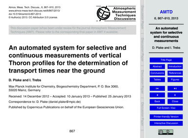 An Automated System for Selective and Co... by Plake, D.