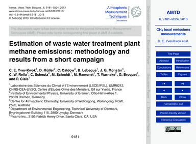 Estimation of Waste Water Treatment Plan... by Yver-kwok, C. E.