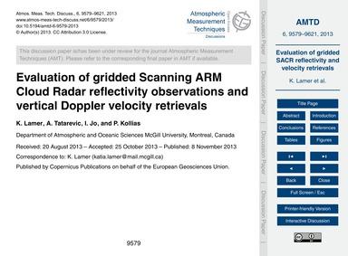 Evaluation of Gridded Scanning Arm Cloud... by Lamer, K.