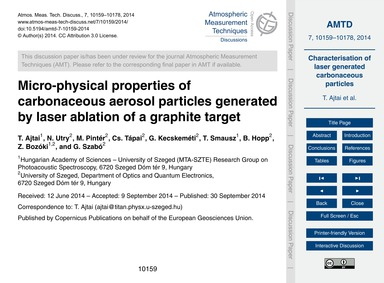 Micro-physical Properties of Carbonaceou... by Ajtai, T.