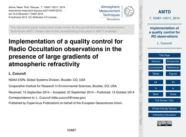 Implementation of a Quality Control for ... by Cucurull, L.