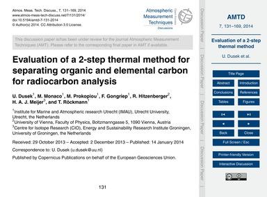 Evaluation of a 2-step Thermal Method fo... by Dusek, U.