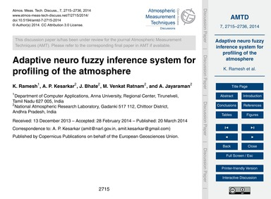 Adaptive Neuro Fuzzy Inference System fo... by Ramesh, K.