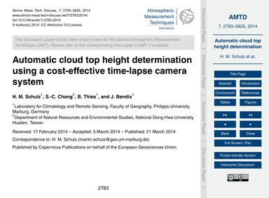 Automatic Cloud Top Height Determination... by Schulz, H. M.