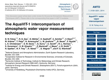 The Aquavit-1 Intercomparison of Atmosph... by Fahey, D. W.