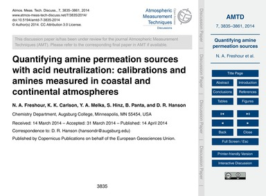 Quantifying Amine Permeation Sources wit... by Freshour, N. A.