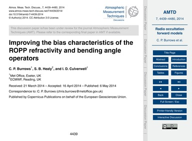 Improving the Bias Characteristics of th... by Burrows, C. P.