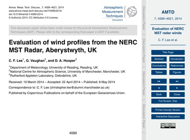 Evaluation of Wind Profiles from the Ner... by Lee, C. F.