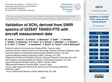 Validation of Xch4 Derived from Swir Spe... by Inoue, M.