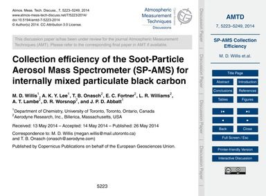 Collection Efficiency of the Soot-partic... by Willis, M. D.