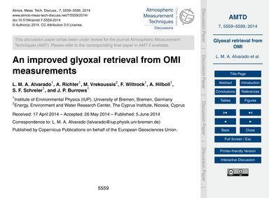 An Improved Glyoxal Retrieval from Omi M... by Alvarado, L. M. A.