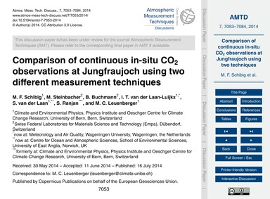 Comparison of Continuous In-situ Co2 Obs... by Schibig, M. F.