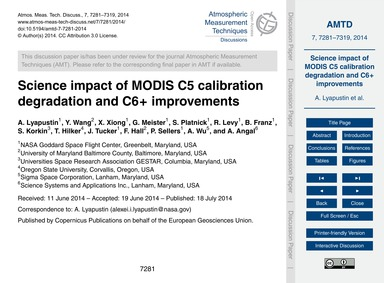 Science Impact of Modis C5 Calibration D... by Lyapustin, A.