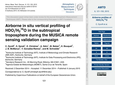 Airborne in Situ Vertical Profiling of H... by Dyroff, C.