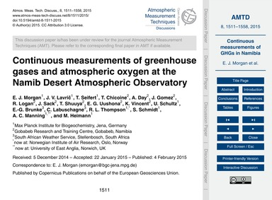 Continuous Measurements of Greenhouse Ga... by Morgan, E. J.