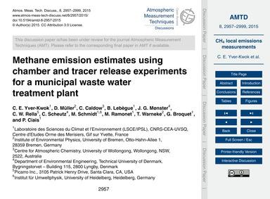 Methane Emission Estimates Using Chamber... by Yver-kwok, C. E.