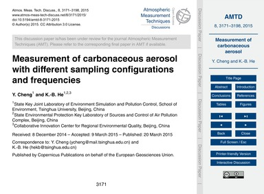 Measurement of Carbonaceous Aerosol with... by Cheng, Y.