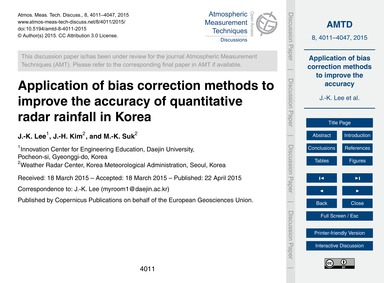 Application of Bias Correction Methods t... by Lee, J.-k.