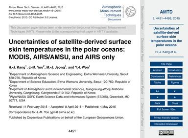 Uncertainties of Satellite-derived Surfa... by Kang, H.-j.