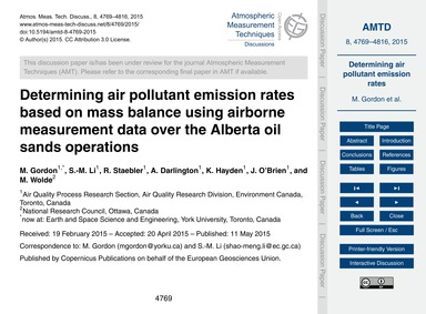 Determining Air Pollutant Emission Rates... by Gordon, M.