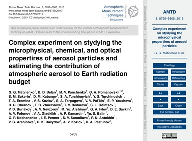 Complex Experiment on Stydying the Micro... by Matvienko, G. G.