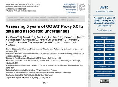 Assessing 5 Years of Gosat Proxy Xch4 Da... by Parker, R. J.
