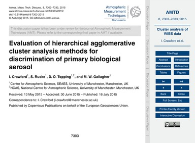Evaluation of Hierarchical Agglomerative... by Crawford, I.