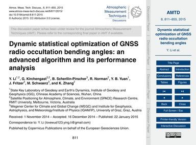 Dynamic Statistical Optimization of Gnss... by Li, Y.