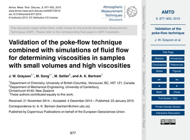 Validation of the Poke-flow Technique Co... by Grayson, J. W.