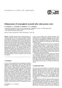 Enhancement of Stratospheric Aerosols Af... by Shumilov, O. I.
