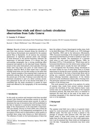 Summertime Winds and Direct Cyclonic Cir... by Lemmin, U.