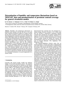 Determination of Humidity and Temperatur... by Gierens, K. M.
