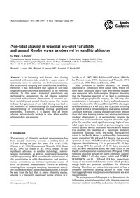 Non-tidal Aliasing in Seasonal Sea-level... by Chen, G.