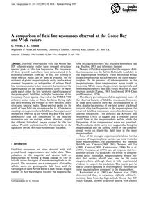 A Comparison of Field-line Resonances Ob... by Provan, G.