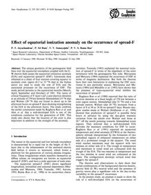 Effect of Equatorial Ionization Anomaly ... by Jayachandran, P. T.