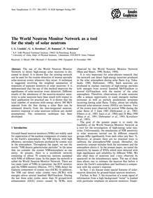 The World Neutron Monitor Network as a T... by Usoskin, I. G.