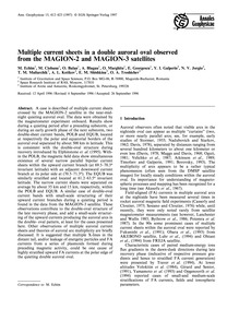 Multiple Current Sheets in a Double Auro... by Echim, M.
