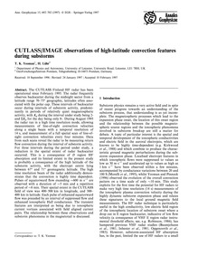 Cutlass/Image Observations of High-latit... by Yeoman, T. K.