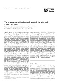 The Structure and Origin of Magnetic Clo... by Bothmer, V.