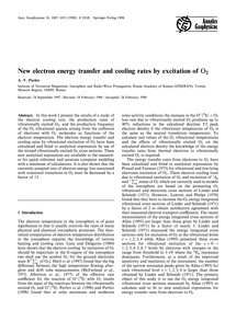 New Electron Energy Transfer and Cooling... by Pavlov, A. V.