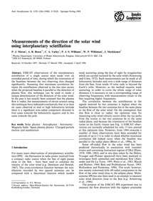 Measurements of the Direction of the Sol... by Moran, P. J.