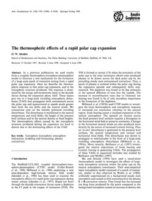 The Thermospheric Effects of a Rapid Pol... by Idenden, D. W.