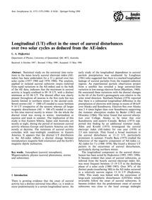 Longitudinal (Ut) Effect in the Onset of... by Hajkowicz, L. A.