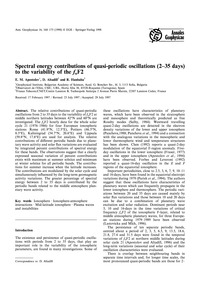 Spectral Energy Contributions of Quasi-p... by Apostolov, E. M.