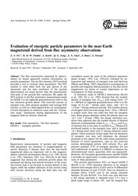 Evaluation of Energetic Particle Paramet... by Pu, Z. Y.