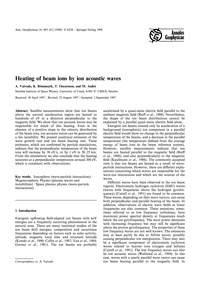 Article: Heating of Beam Ions by Ion Aco... by Vaivads, A.
