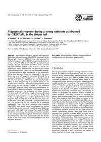 Magnetotail Response During a Strong Sub... by Belehaki, A.